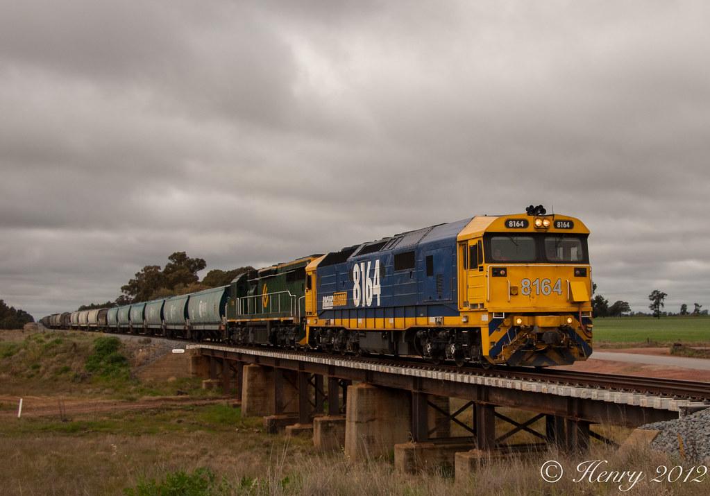 3325 Empty Grain Train by Henry Owen
