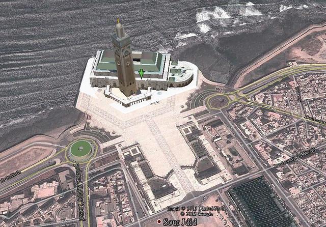 空照圖-哈珊二世清真寺-2