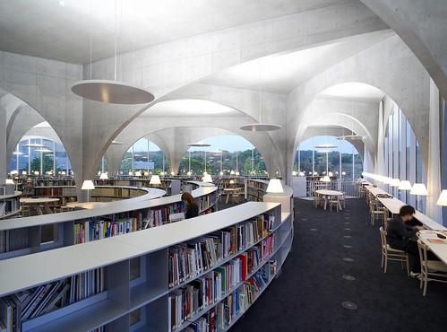 Tama Art university Library, 2004-2007. Hachioji-shi. Tokyo. Japan