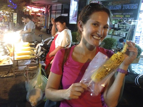Lina craved corn. Lina gets corn.