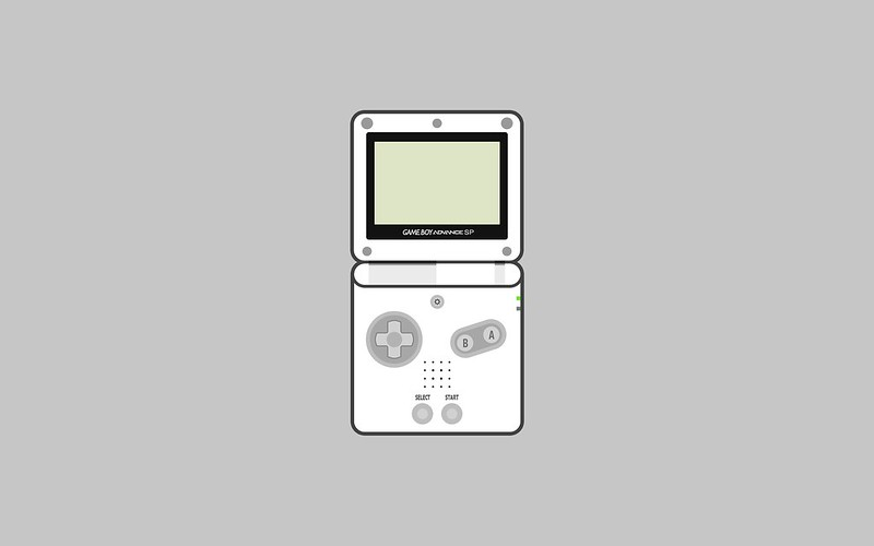 Nintendo Game Boy Advance SP wallpaper - white