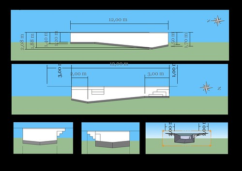 Piscine bloc bancher beton 12m 4 2m piscines r alisations for Plan piscine beton