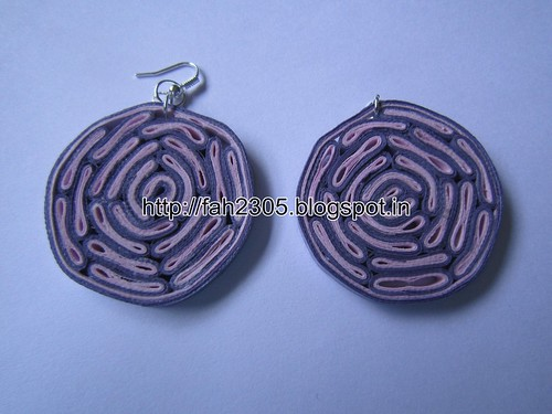 Handmade Jewelry - Paper Quilling Disk Earrings (Bacteria Style) (1) by fah2305