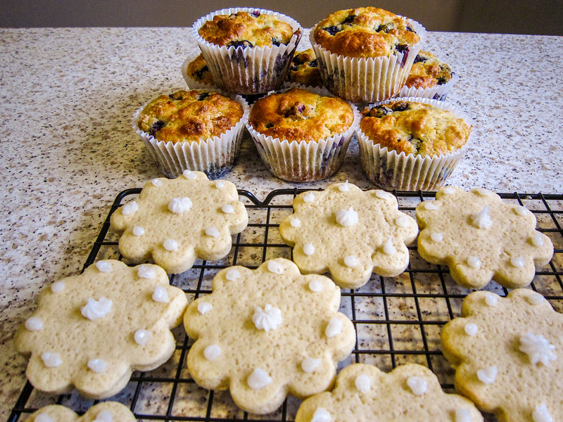Blueberry Muffins and Easter Biscuits