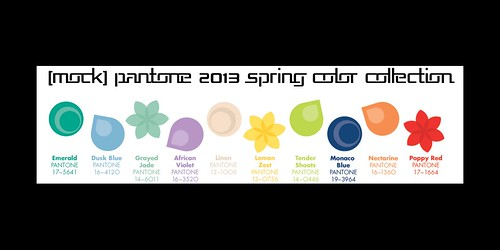 Pantone 2013 Color Collection by Mocksoup