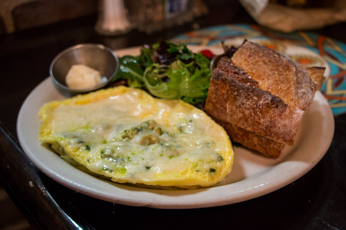 The Chicken Pesto Omelet