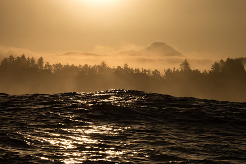 depoebay oregon coast swell wave water sunrise
