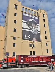 Nebraska Cornhuskers invade Northwestern U.'s stadium