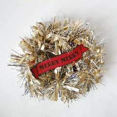 Mini Tinsel Wreath Tutorial