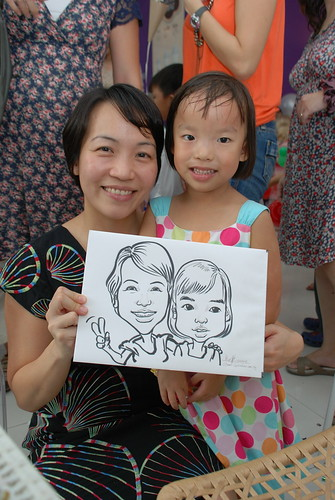 caricature live sketching for birthday party - 8