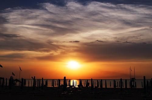 backlight sunset