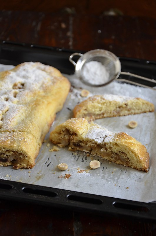 Pears and Hazelnut Strudel