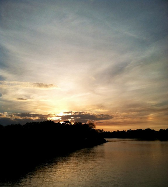 Sunset over the Caloosahatchee River