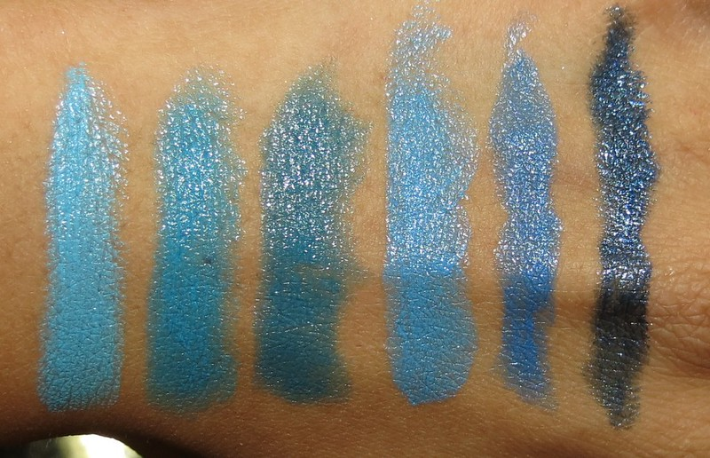 Inglot Pacific Blue Lipstick Collection