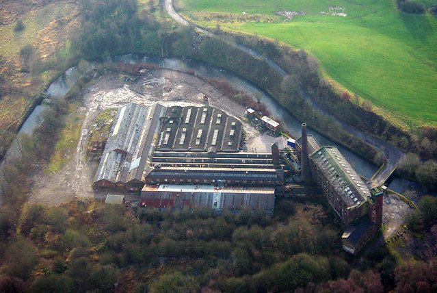 Crimble Mill, Heywood - from the air