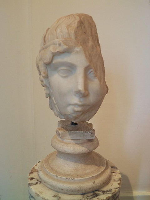 Head of Apollo of the Leptis Ostia type, Roman copy after a Greek original from the middle 5th century BC, from the Domus Augustana, Palatine Museum, Rome