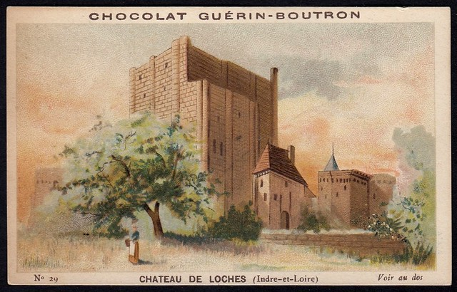French Tradecard - Chateau De Loches