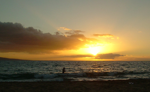 Maui Beach Sunset, South Kihei, November 2012