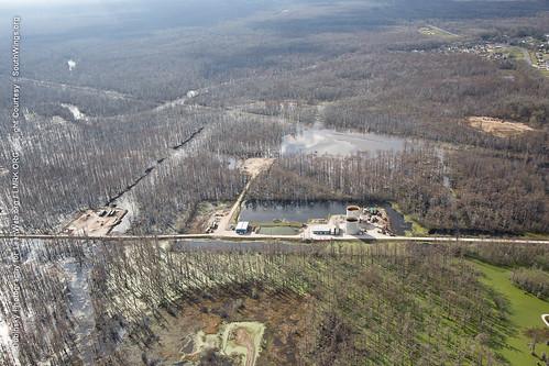 Wide Shot of the Bayou Corne Sinkhole