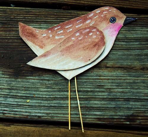 cardboard bird