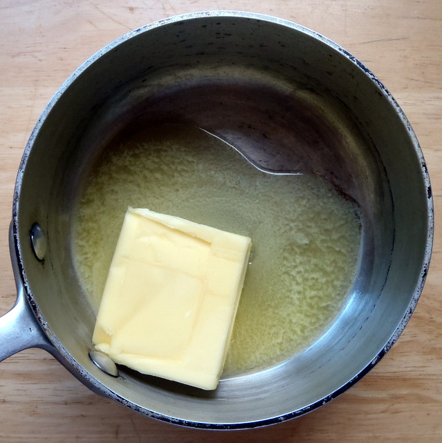 Make clarified butter by slowly melting the butter in a small heavy ...