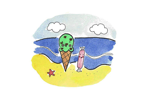 Ice Cream by the shore