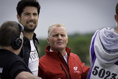 TV Presenter Craig Doyle and GT Academy mentor Johnny Herbert