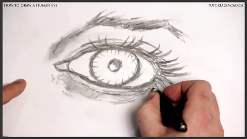 learn how to draw a human eye 018