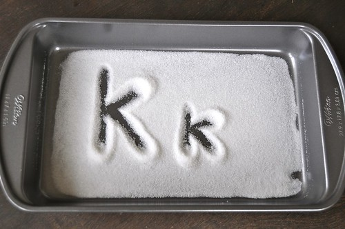 sugar tray tracing letters