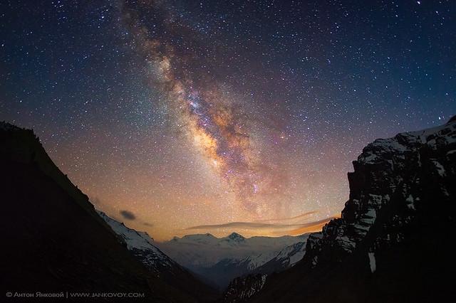 Milky Way above the Himalayas