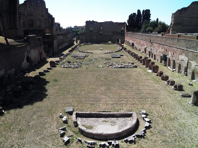 The Hippodrome of Domitian, the Palatine, Rome