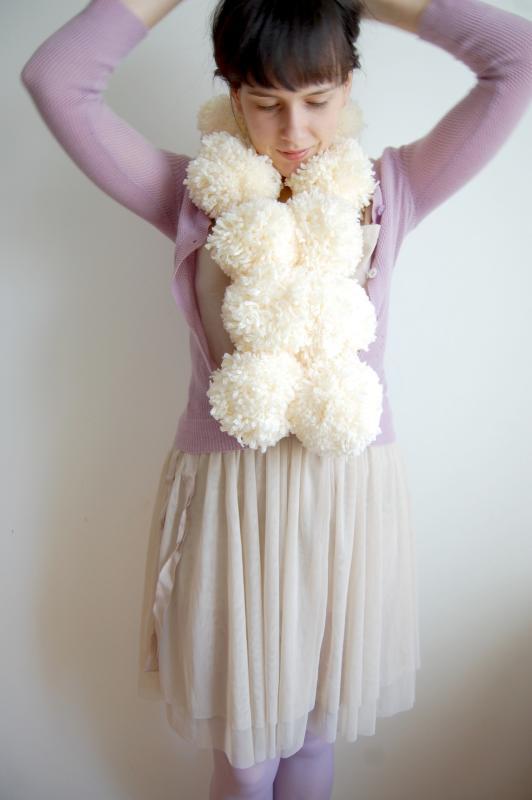 pompon scarf