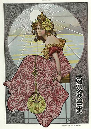 008-Alegoria del mes de Agosto- Gaspar Camps-Revista Álbum Salón-Enero de 1901 -Hemeroteca de la Biblioteca Nacional de España