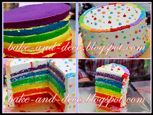 Baking & Deco Class: Rainbow Cake ~ 18 July 2012