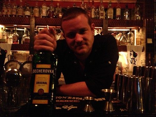 Russell Davis and Becherovka