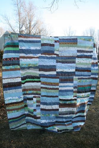 Blue Stripes Quilt