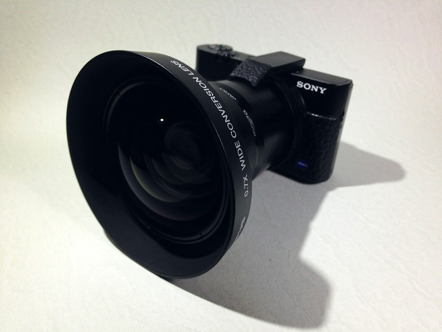SONY DSC-RX100 with OLYMPUS wide converter