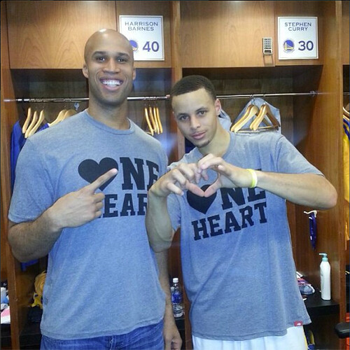 Richard Jefferson and Steph Curry - One Heart Shirt
