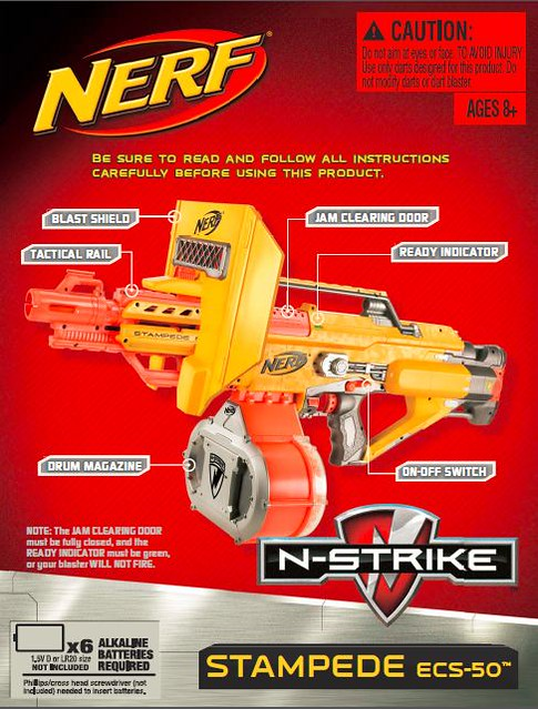 Stampede Ecs 50 Manual Found On Hasbro Website Basic Nerf