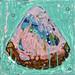 王亮尹‧三角形草莓巧克力‧壓克力、畫布30x30cm‧2010