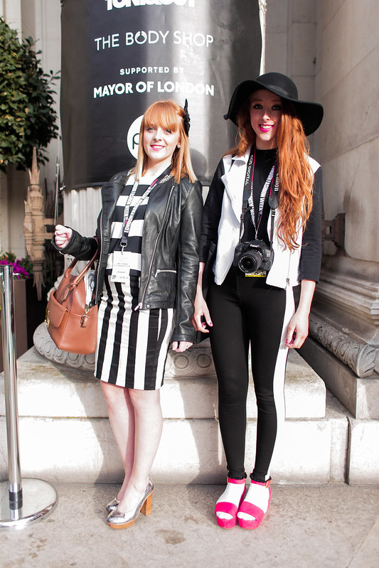 LFW Street Style - The Strawberry Sisters