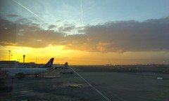 Sunset over Heathrow