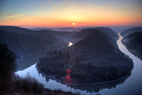[フリー画像素材] 自然風景, 朝焼け・夕焼け, 渓谷, 河川・湖, ドイツ ID:201302251600