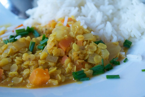 red lentil and carrot curry