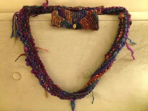 Finished artsy BFL cowl and headband