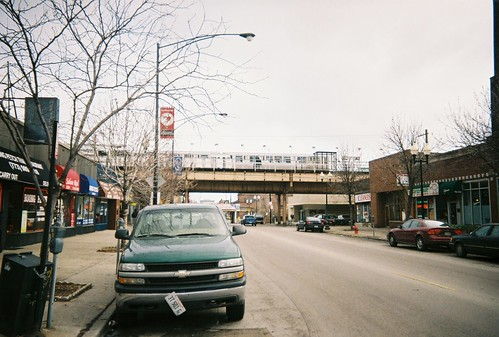 The Montrose Avenue Chicago Transit Authority brown line rapid transit station.  Chicago Illinois.  January 2006. by Eddie from Chicago