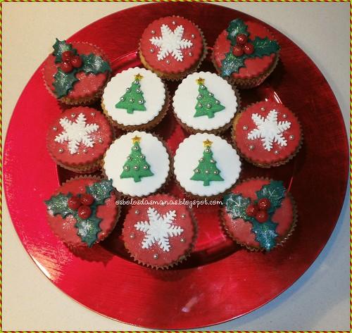 Cupcakes de Natal by Osbolosdasmanas