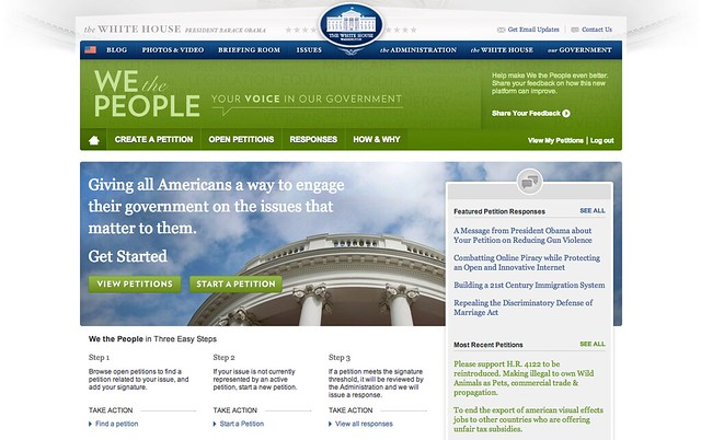 We the People website