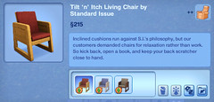Tilt 'n' Itch Living Chair by Standard Issue