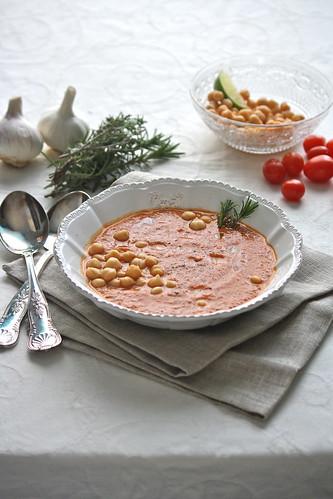 Zuppa di ceci e verdure arrosto